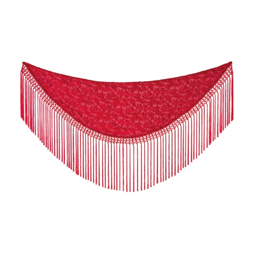 Manton Rojo Flocado