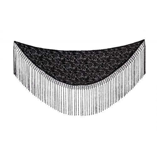 Manton Negro Flocado