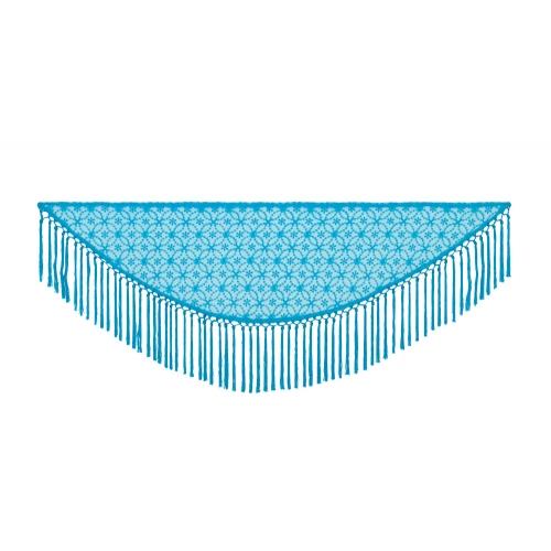Manton Azul Mar Circulos Gasa