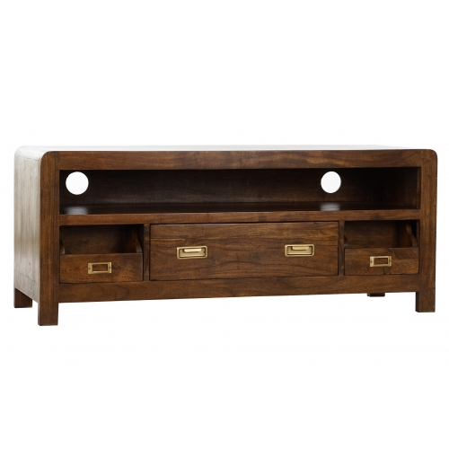 MUEBLE TV ACACIA 115X40,5X48 NATURAL MARRON